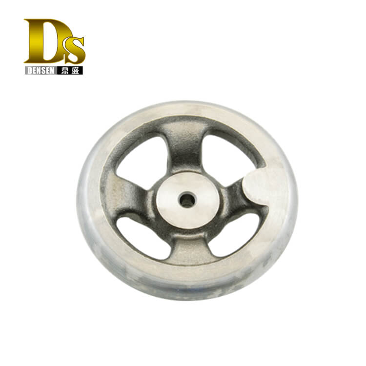 Densen Customized Lost Wax Casting Stainless Steel Handwheel,CNY Machine Three Spoked Handwheel With Rotary Handle