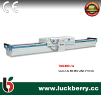 Double worktables veneer vacuum membrane press