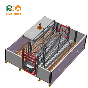 Durable pig pen equipment adjustable farrowing crate for sale