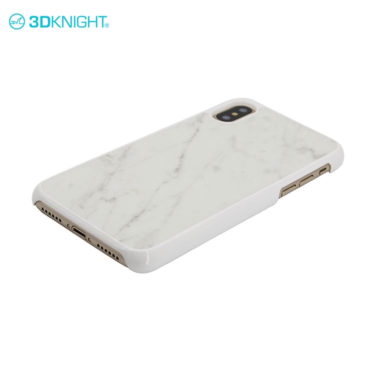 Marble stone cell phone cover optional pc case for iphone X white blank mobile cover