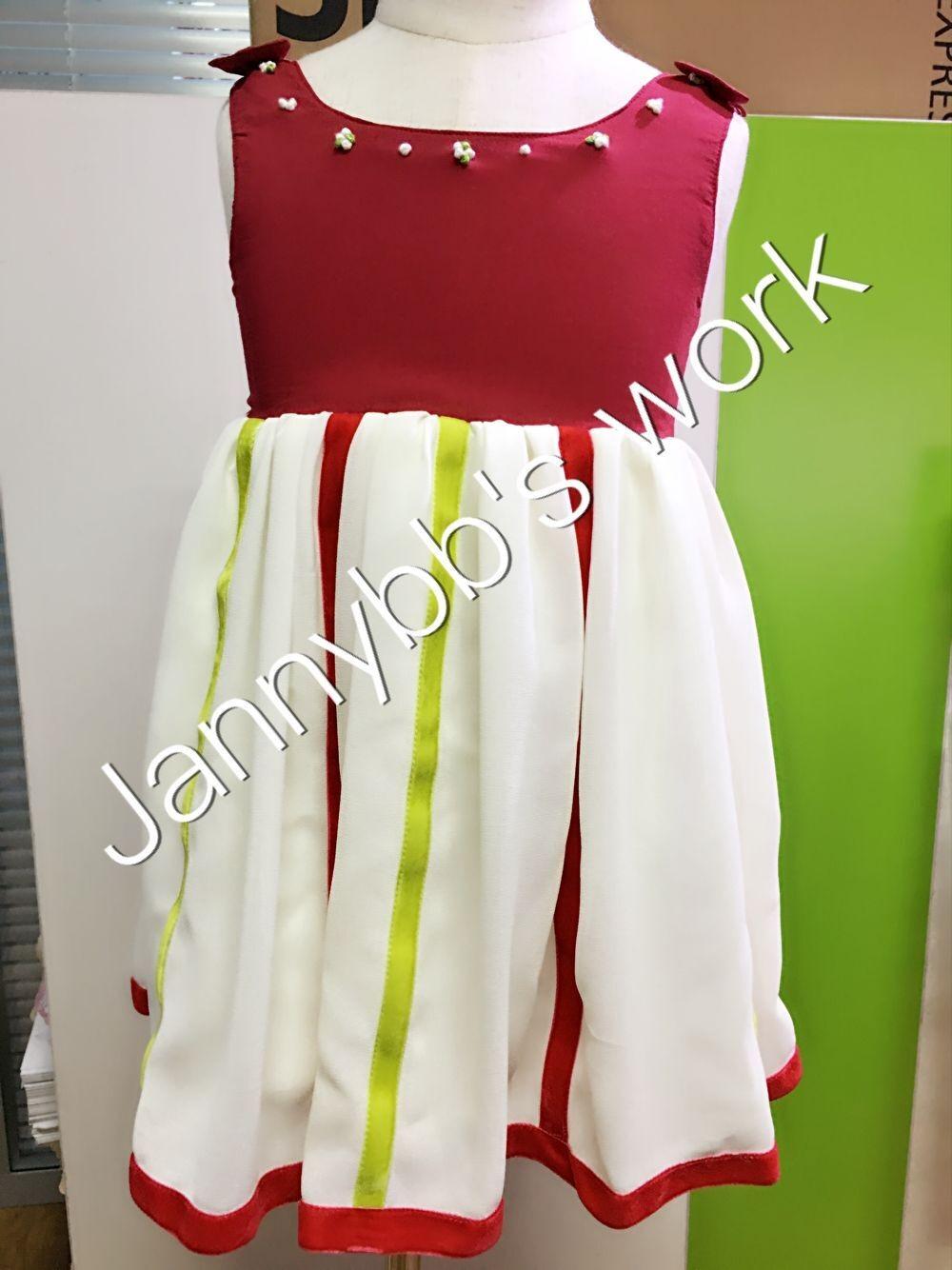 latest design baby girl velvet ribbon hand embroidered boutique dress