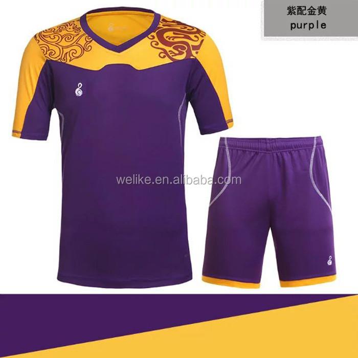 2db1c1c05157e Azul oscuro Rosa conjuntos de uniformes de fútbol nuevo diseño uniforme del  club barato camisas del