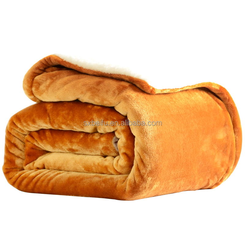 Customized high quality new style inexspensive wholesale double-deck thick sherpa blanket