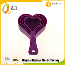 Quality Guaranteed high quality plastic measuring spoon heart shape spoon set