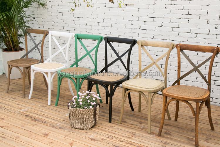 Wooden Rental Wedding Cross Back Chair/high Quality X Back