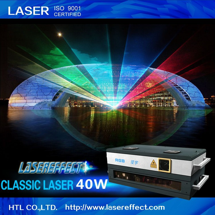 40W RGB multicolor laser light for large-scale laser show and stage performance