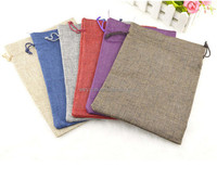 10x13cm Handmade Cotton Drawstring burlap Wedding Party Favor Christmas Gift Packaging Bags Pouches Jute Bags