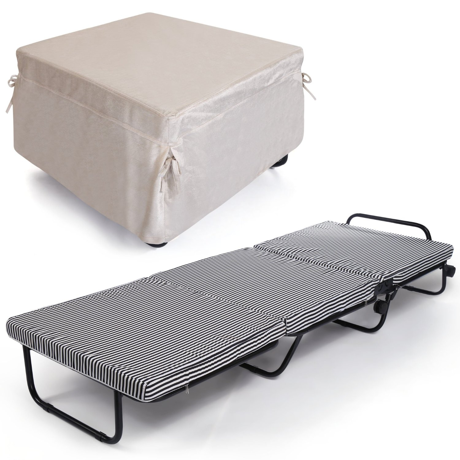 Buy Homdox Folding Bed, Tri-Fold Portable Sleeping Cot With Memory ...