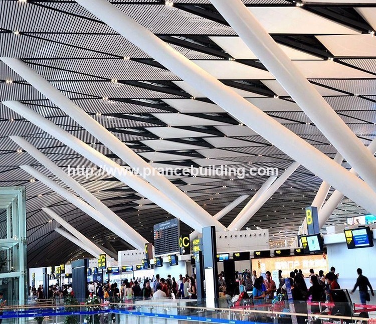 Acoustic Suspended Perforated Metal Ceiling Tiles