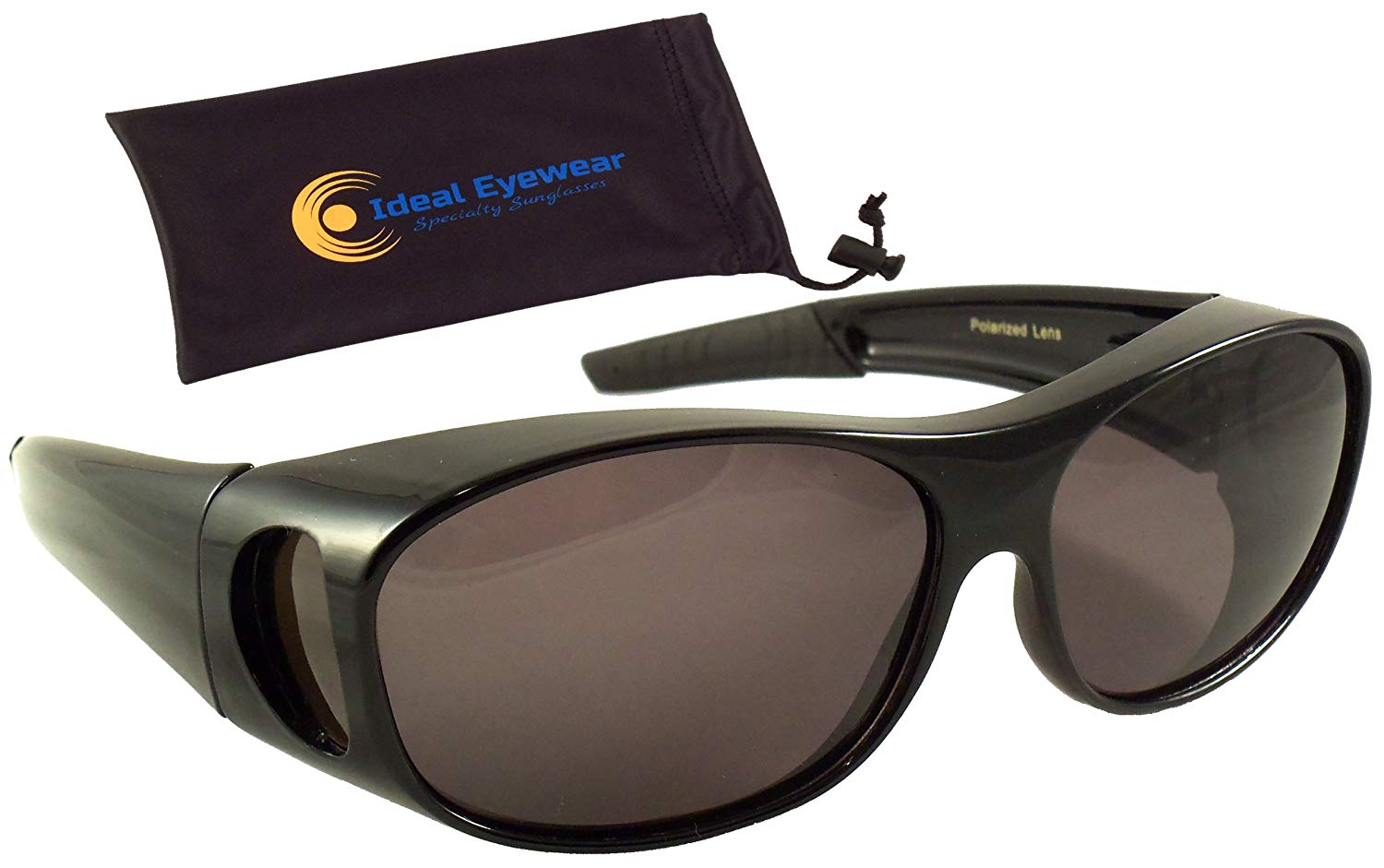 539fb226ee Get Quotations · Sun Shield Fit Over Sunglasses with Polarized Lenses and  Spring Hinges - Fit Over Prescription Glasses