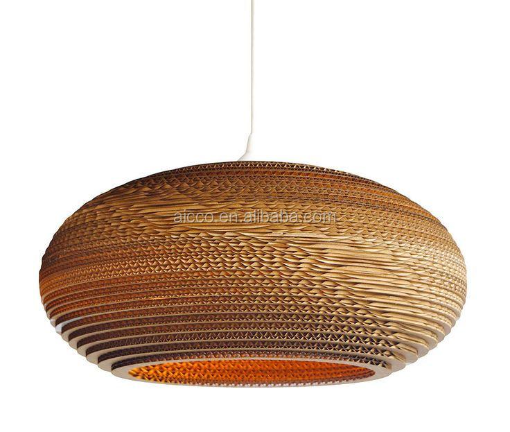 Decorative Pendant Lighting Home Lights Recycled Cardboard Moon ...
