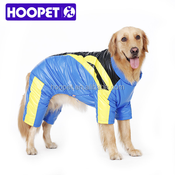 Winter jacket for large dog easy to wear pet skiing clothes