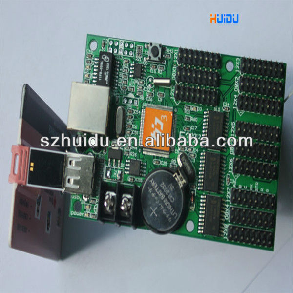 led display controller E3 pixel 128x1024,ethernet port,7 colors effect,rj45