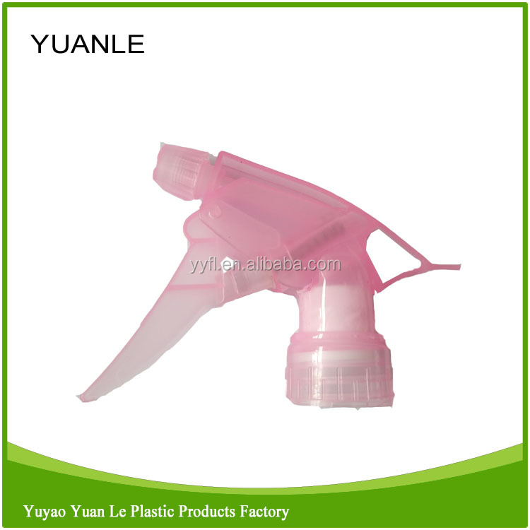 PP Hot Sell Cleaning Transparent Pink Trigger Sprayer Nozzle Mist