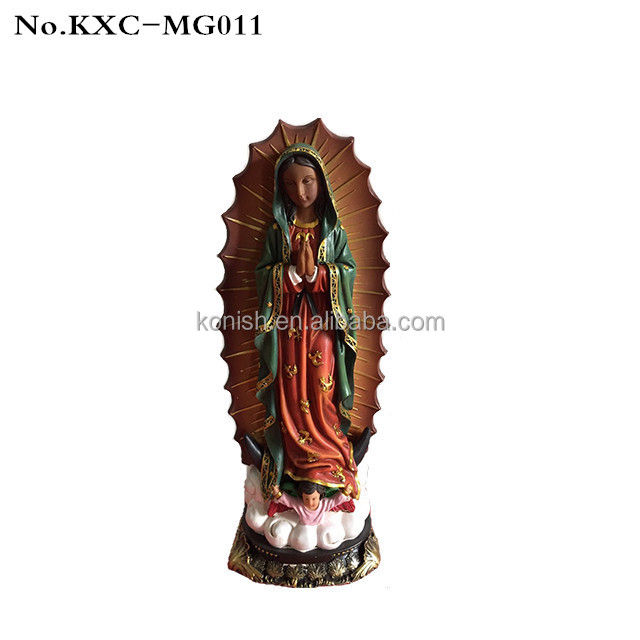 Polyresin Religious Christian Statue Holy Bible Virgin Mary for Church Decor