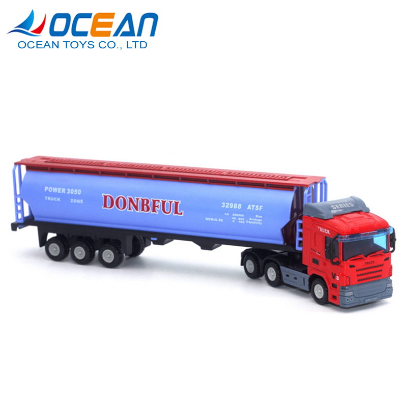 China toy truck trailer manufacturers hot sell diecast truck model with 12 wheels