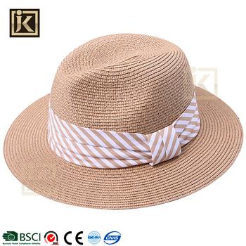 JAKIJAYI brand wholesale promotional summer paper made wide brim men panama beach  hat cbde4c75d44