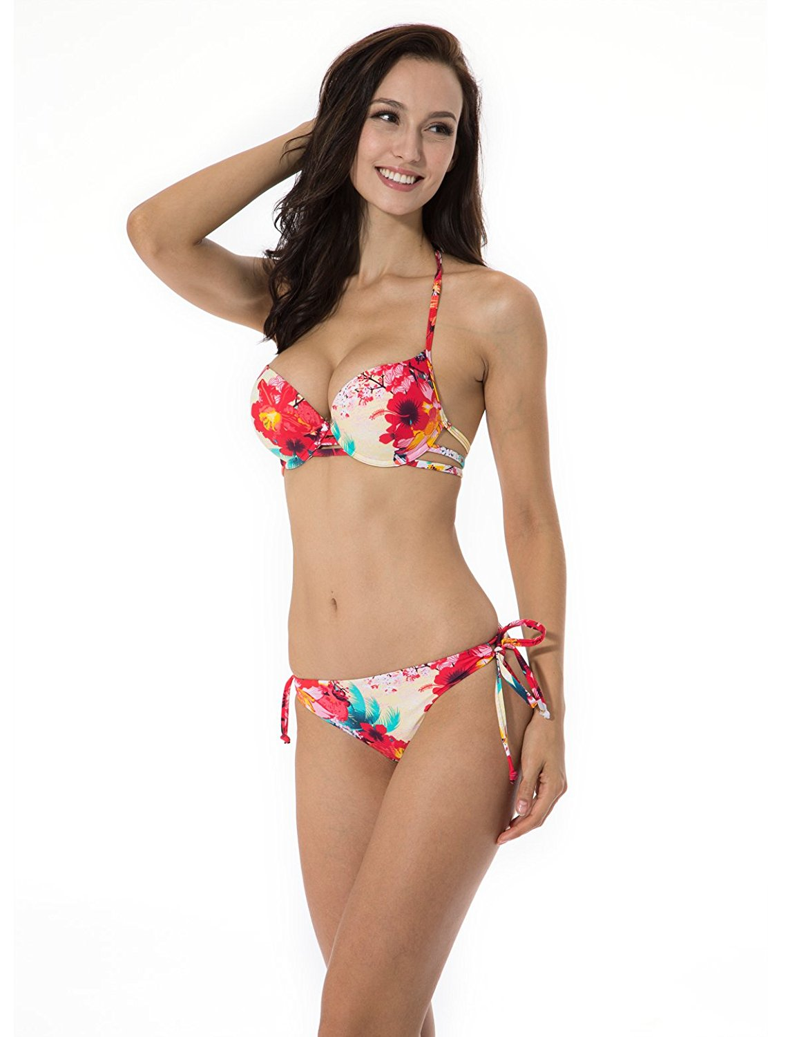 52bbbcaed4 Buy Leapord With Diamond Push up Padded Low Rise Beach Bikini Set ...