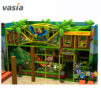 Plastic jungle forest amusement equipment park kids soft playground indoor for sale