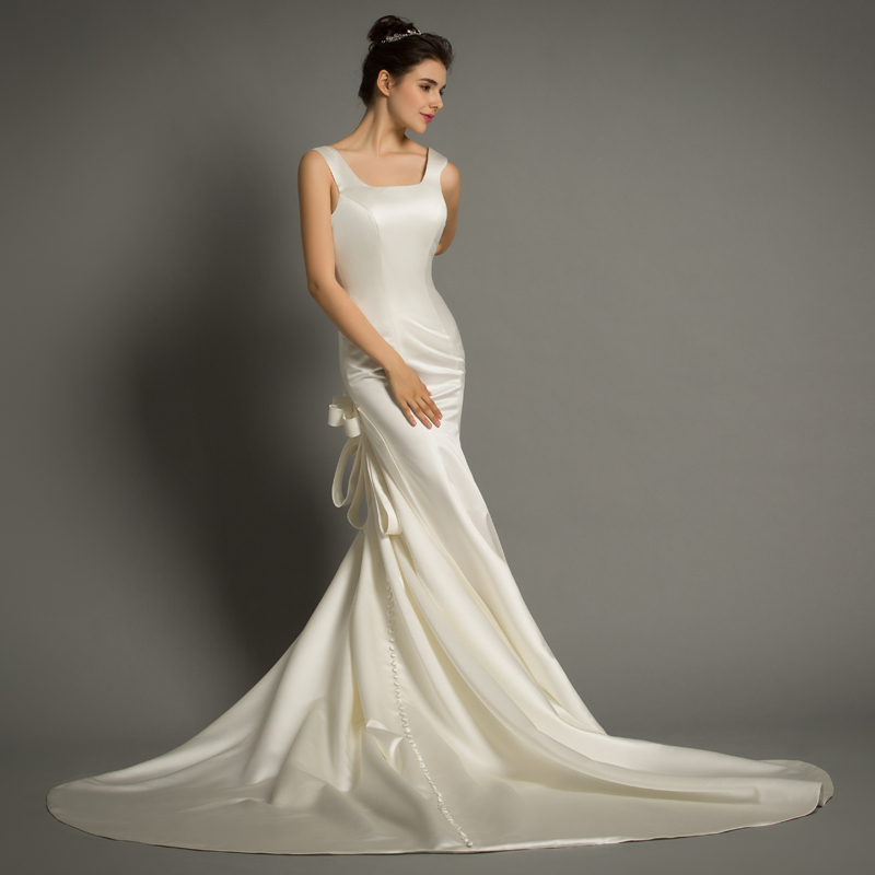 Simple Elegant Open Back Long Sleeve Wedding Dress: DHG621 Elegant Simple Sexy Open Back Wedding Dress Sexy