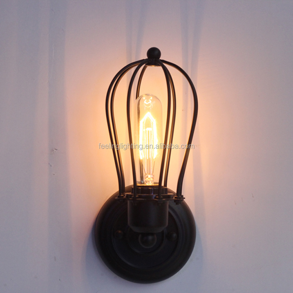 Hot sale Loft vintage edison bulb wall lamp outdoor for coffee shop/bar china factory
