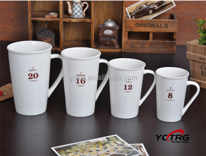 Stock customized logo printing 8oz/12/oz16oz/20oz porcelain/ ceramic mug
