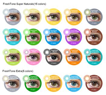 3d79f56631b166 50 couleurs FreshTone de lentilles de contact en gros corée FDA beauté  cosmétique premium couleur lentilles