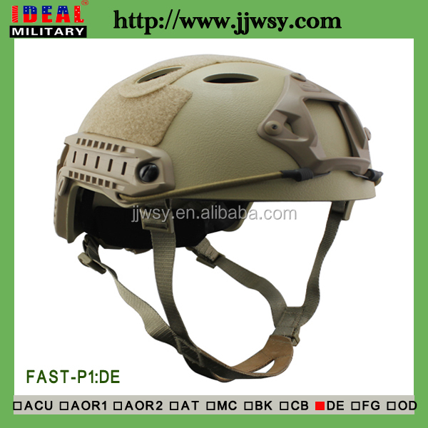FAST PJ Tactical Airsoft Helmet/Paintball Protection Helmet in TAN color