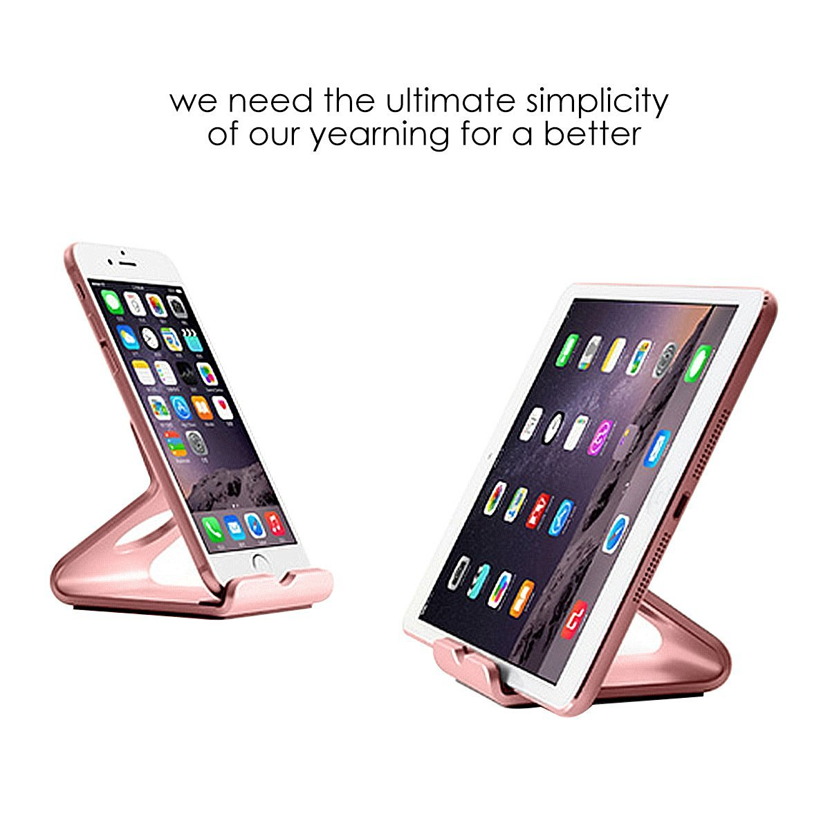 iPhone Stand, Oenbopo Aluminum Desktop Phone Tablet Stand Holder For iPhone SE 6S 6Plus 5s Samsung Galaxy S7 S7 Edge S6 S5 Note 5 4 3 Kindle Fire 7 Tablet(3.5~6inch Mobile&7 inch Tablet)