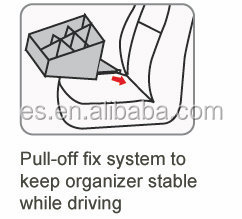 Console organizer for car with Pull-off fix system