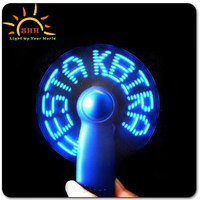 brand gift glow products novelty promotional led fan programmable led message handheld fan