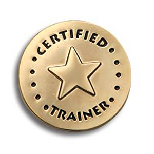 Certified Trainer Lapel Pins Gold Star in Circle (10/set)
