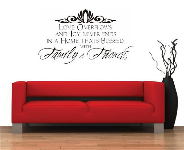 Wall Sticker Quotes Home Decor Vnilos Decorativos Adesivo De Parede Western Proverb Wall Stickers Family and Friend Wall Decor