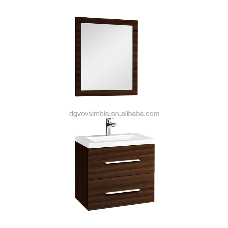 Lastest particle board white paint bathroom cabinet with mirror
