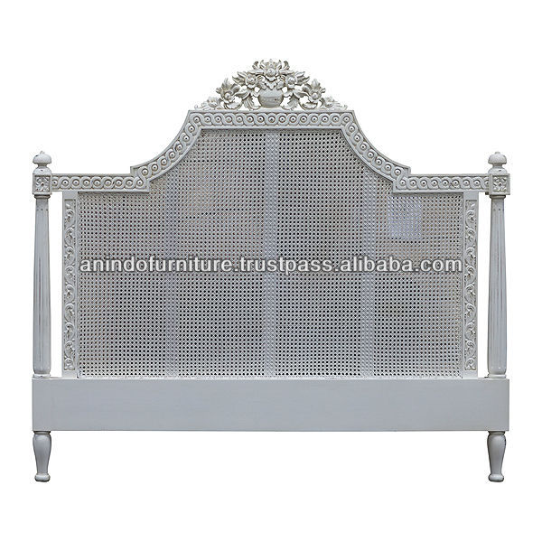 Queen Anne Headboard with Rattan