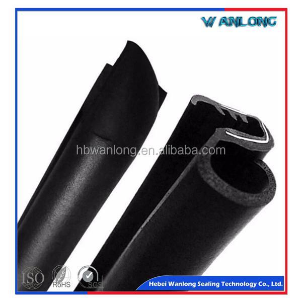 "Black Vehical Cars Rubber Seal Strip Metal Trim Lock Door Window Trunk Edge 120/"""