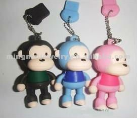 Top-selling! PVC Rubber Monkey USB Flash Drive Memory