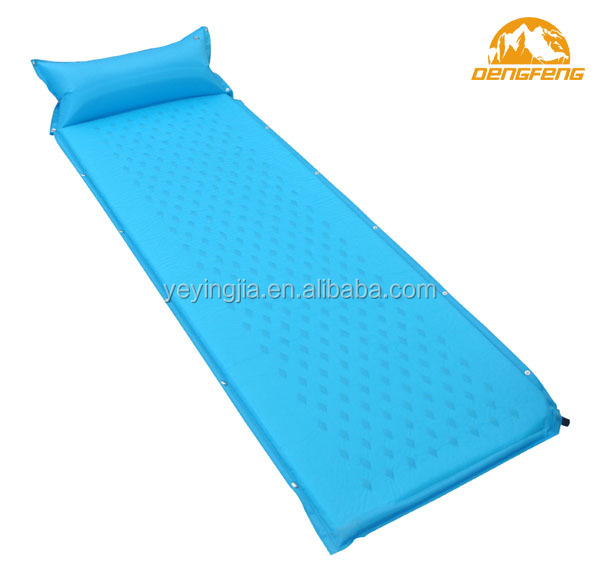 outdoor self inflating camping mat with pillow