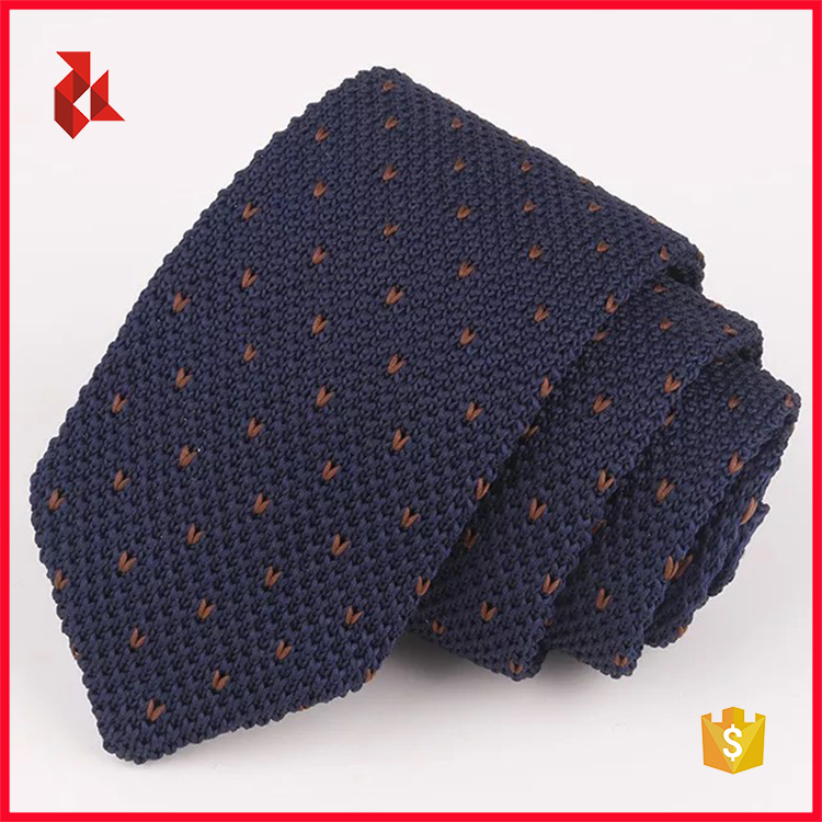 100% Polyester Triangle Knit Ties Men