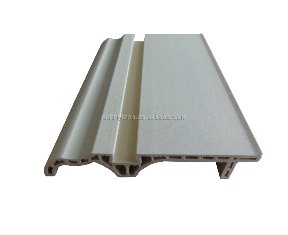 indoor waterproof wpc wood plastic skirting board, PVC skirting board