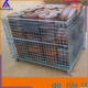 Warehouse folding steel storage cage/roller container