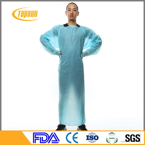 Disposable Hospital Medical Cpe Polyethylene Isolation Gown - Buy ...