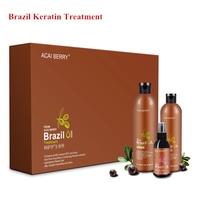 Professional instant straightening brazil keratin treatment for damaged hair