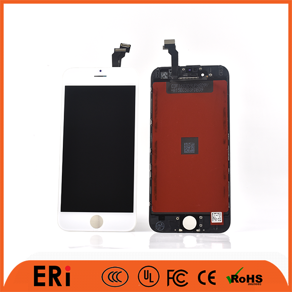 12 months factory warranty phone lcd digitizer 6 white phone lcd panel for iphone 6, phone parts for iphone 6