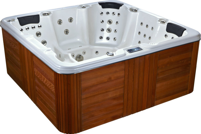 jardn porttil spa de lujo de hidromasaje al aire libre mini piscina spa con masaje baera de hidromasaje al aire libreen duchas y baeras de baos en