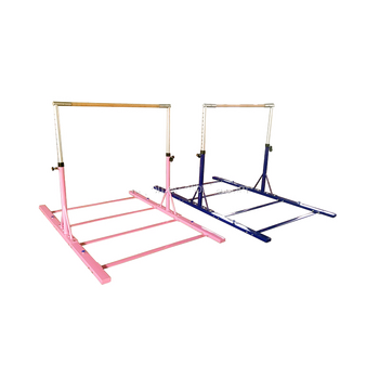 Hot Pink Freestanding Junior Training Bar Kids Horizontal Bar For Body Building Home Usage Buy Gymnastics Horizontal Bar Home Training Bar Kids