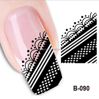 BIN Water transfer nail Decals French nail art sticker 2D new nail art design