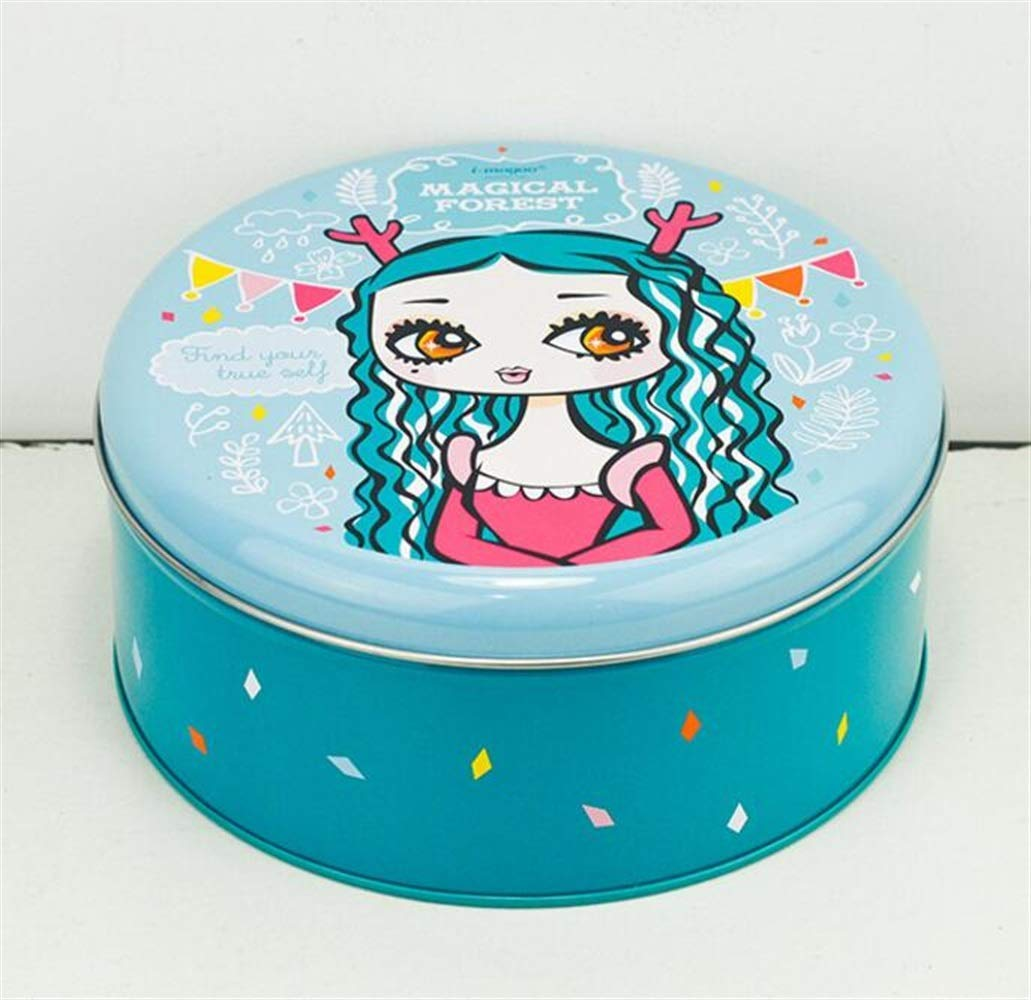 Kicthen Tool Portable Retro Sealed Cans Small Tea Cans Tea Storage(Blue)