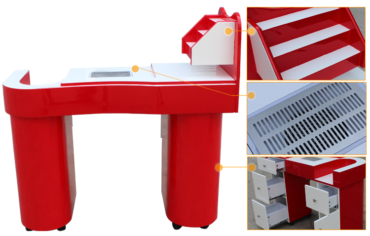 best beauty salon nail station manicure table with dust collector N049
