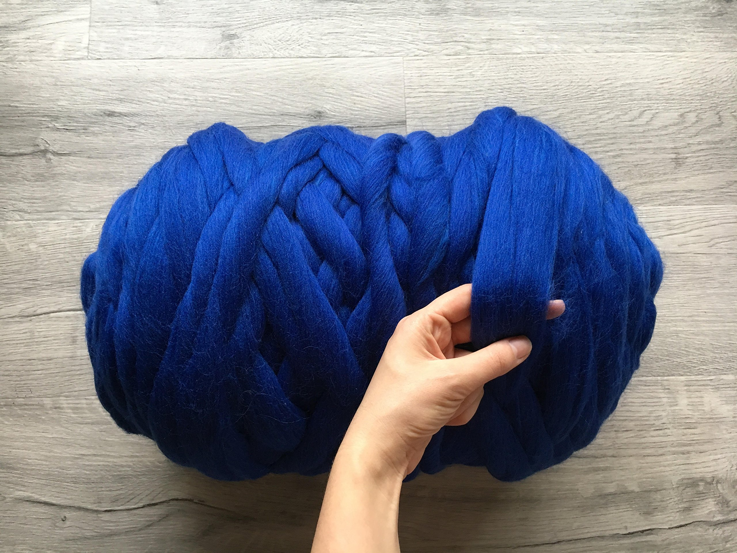Merino wool yarn Chunky arm knitting blanket throw fiber Super bulky soft giant knit DIY large crafts for handmade thick knitted blanket 21.5 microns huge yarn Row Australian merinos